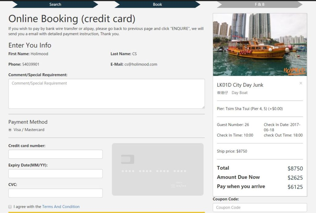 yacht booking online