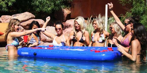 船河 水上 beer pong