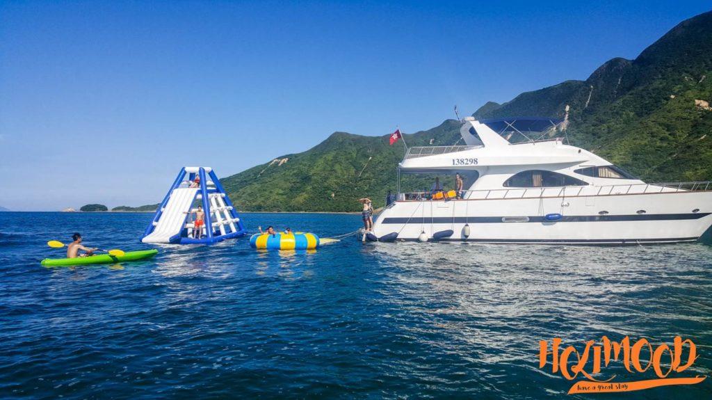 巨型充氣滑梯 特大陀螺 水上活動 船p