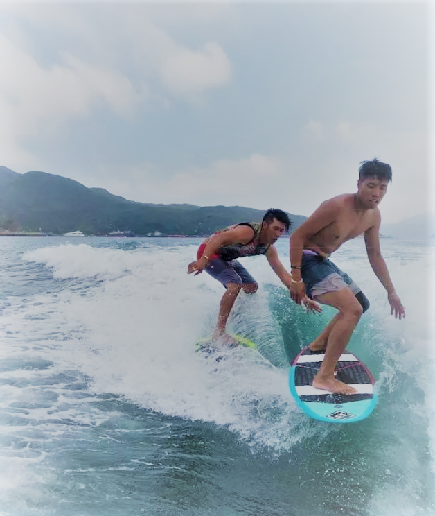 Wake Surfing in Hong Kong